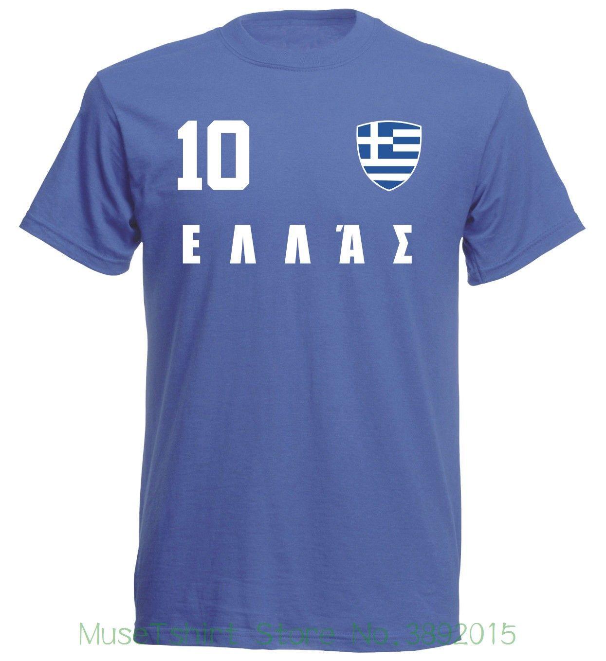 Griechenland Hellas Wm 2018 T Shirt Blau Trikot Fu   Ball Nr All 10 Sportsy  Print T Shirts Men Funny Printed Shirts Cool Tee Shirts Designs From ... fd0f020a39