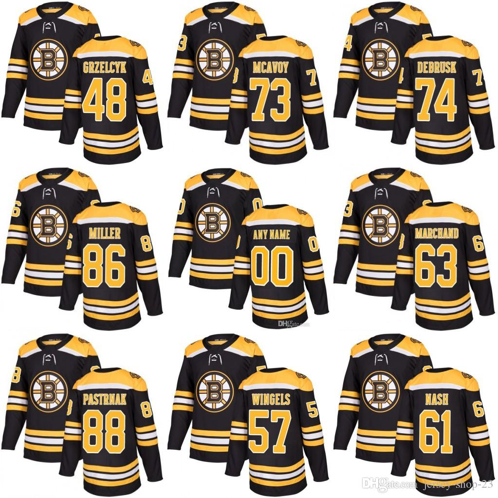 Customized Mens Womens Youth Boston Bruins 88 David Pastrnak 74 Jake ... 857dccc37