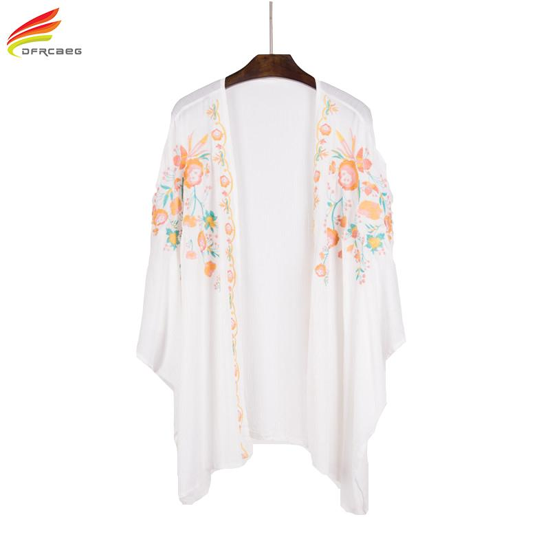 2019 Summer 2018 New Arrivals Women Cotton Blouses And Tops Flowers