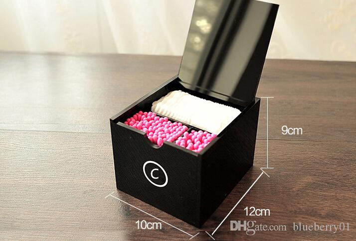 C 화장품 홀더 아크릴 메이크업 면본 상자 큰 메이크업 도구 메이크업 브러쉬 데스크톱 스토리지 상자