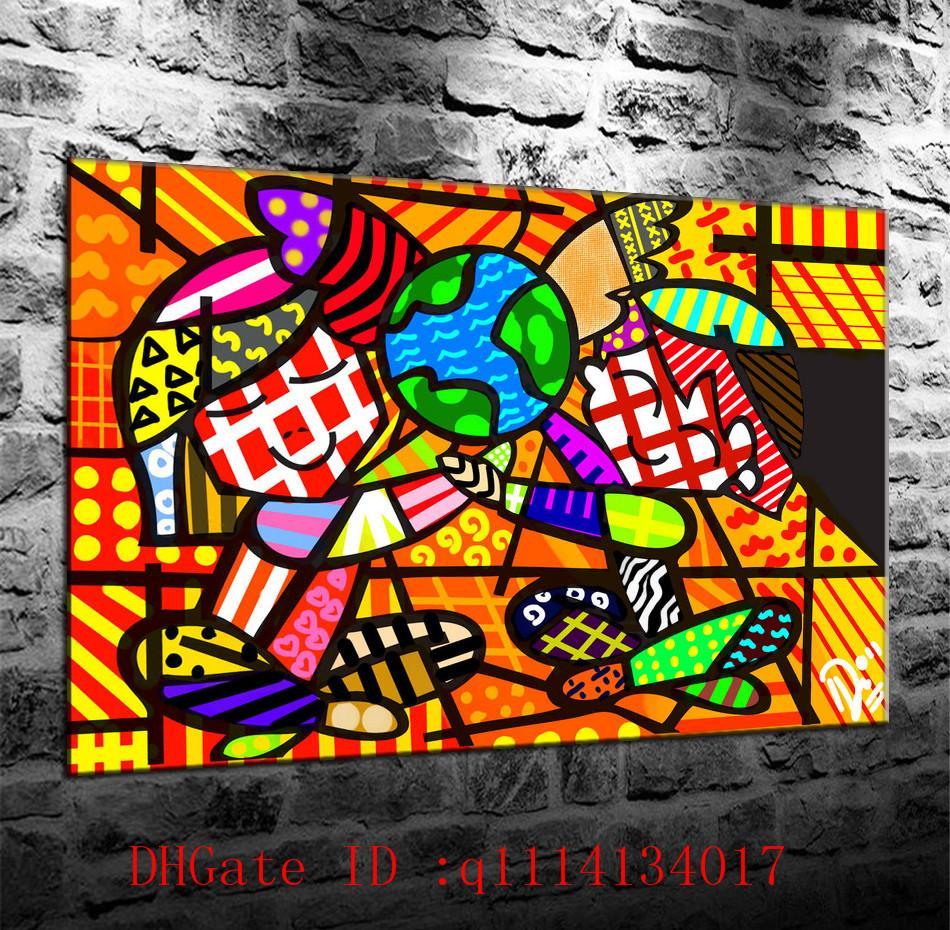 Großhandel Romero Britto 2, Leinwanddrucke Wandbilder Ölgemälde ...