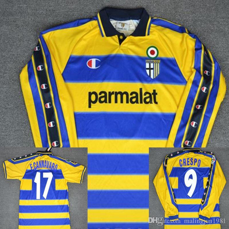 8be04190c 99 00 Parma Crespo Cannavaro Italia Retro Fútbol Jersys Camisetas De Fútbol  De Manga Larga Camiseta Maillot Camisa Futebol Maglie Calcio Por  Malingjun1981