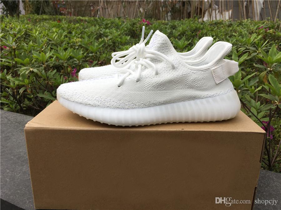 e48cbbb73bf72 2018 Originals 2035Yeezy Sply 350 V2 Cream White Triple White Kanye ...