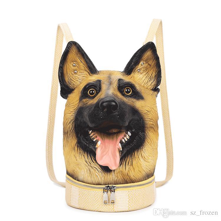 3D Adventure Dogs PU-Beutel doppelte Umhängetaschen Rucksack Kinderfrauen im Freien wasserdichte Multifunktionstasche A-0491