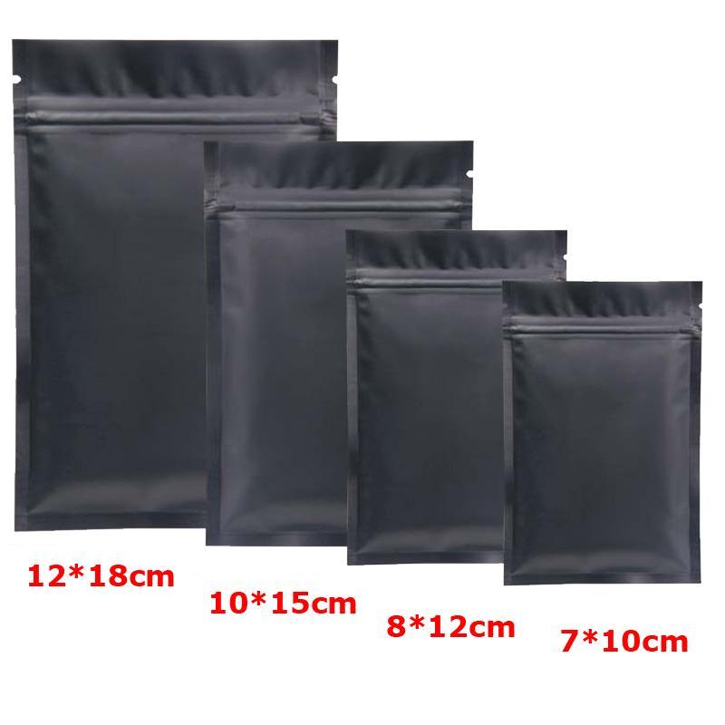 Schwarzer Plastikmylar sackt Aluminiumfolie-Reißverschluss-Beutel für die langfristige Aufbewahrung von Lebensmitteln und den zweiseitigen Schutz von Sammlerstücken ein