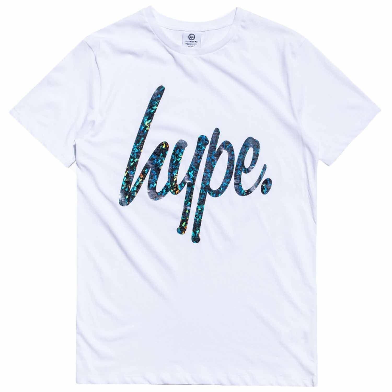 bfc5a8e4 Hype Foil Script T-Shirt - White - Mens T-Shirts T Shirts Short ...