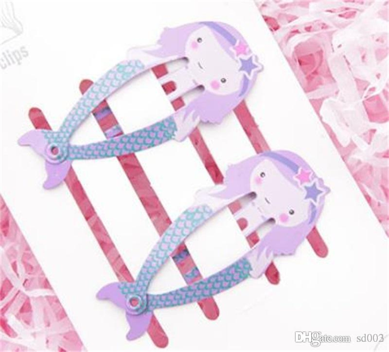 Filles à la main de bande dessinée pince à cheveux boucle Flamingo Ice Cream forme Eco Tide Clips Barrettes de fruits facile à transporter 0 5yf cc