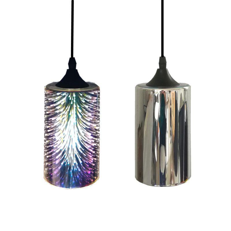 Colorido Fuegos 3d Lámpara Cristal Moderna Simple Vidrio Plateado Iluminación Luz Artificiales Colgante Interior De Vintage Led Tienda v7IfyY6bg
