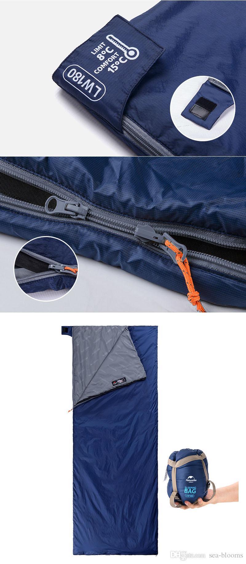 Mini Zarf Tasarım Uyku Tulumu 3 Mevsim Seyahat için Ideal Sırt Çantası Kamp Yürüyüş ve Diğer Açık Hava Etkinlikleri Gibi H223Q