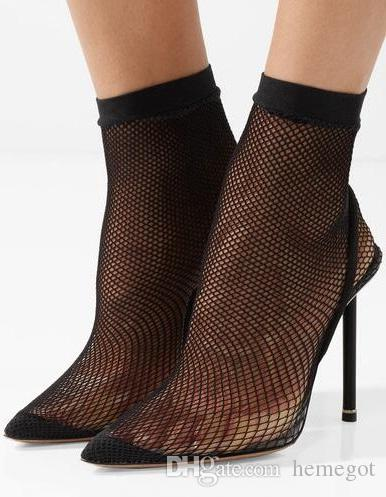 New 2018 Pointed Brand Donna Sexy Nero Pointed 2018 Toe Stiletto Heel Slip On   8eff4b