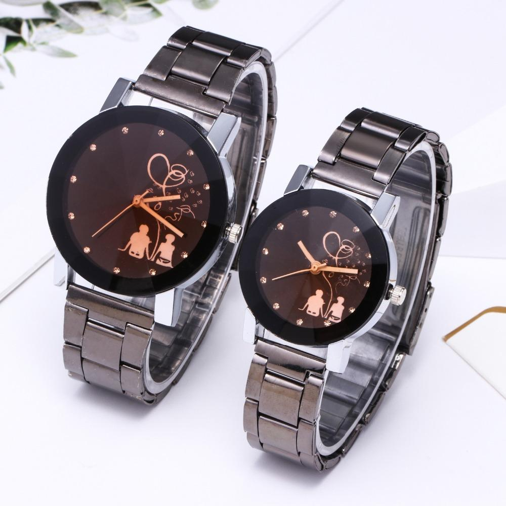 Compre Relogio Parejas Reloj King Queen Reloj De Cuarzo De Acero Completo  Señoras De La Moda Para Mujer Reloj Deportivo Relojes Para Hombres Relojes  Para ... 8a733975e251