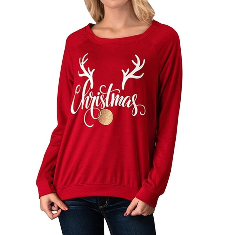 e9592f76b582cf 2019 Litthing Christmas Women Sweatershirts And Pullover Women Casual Loose  O Neck Long Sleeve Sweatshirt Plus Size Fleece Pull Femme Online with ...