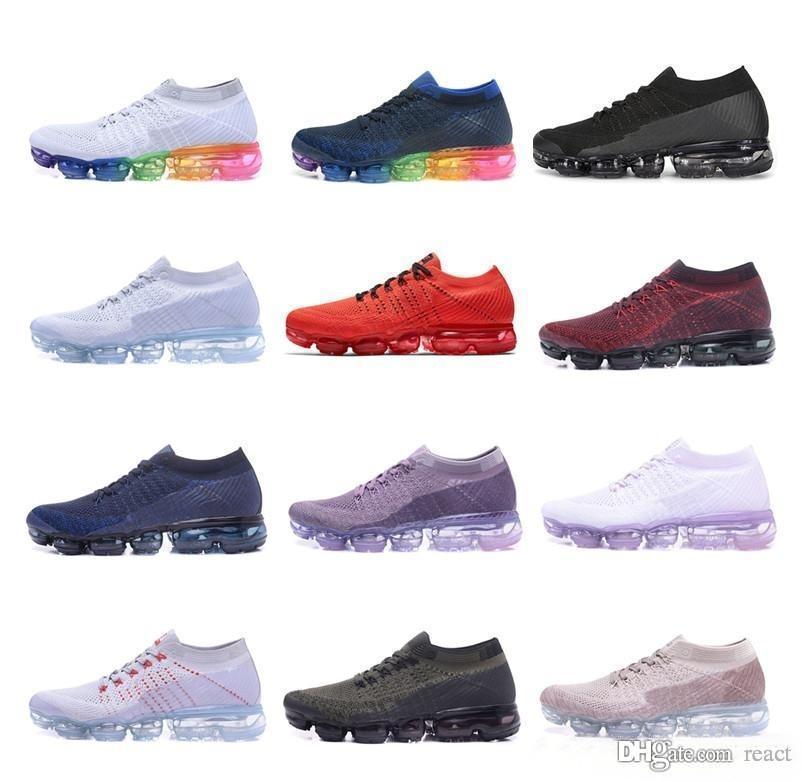Vapormax 2018 Laufschuhe Männer Frauen Outdoor Schwarz Weiß Schock dampf maxes Jogging Walking Wandern Sport Athletic Sneaker Nike Air Max AIRMAX