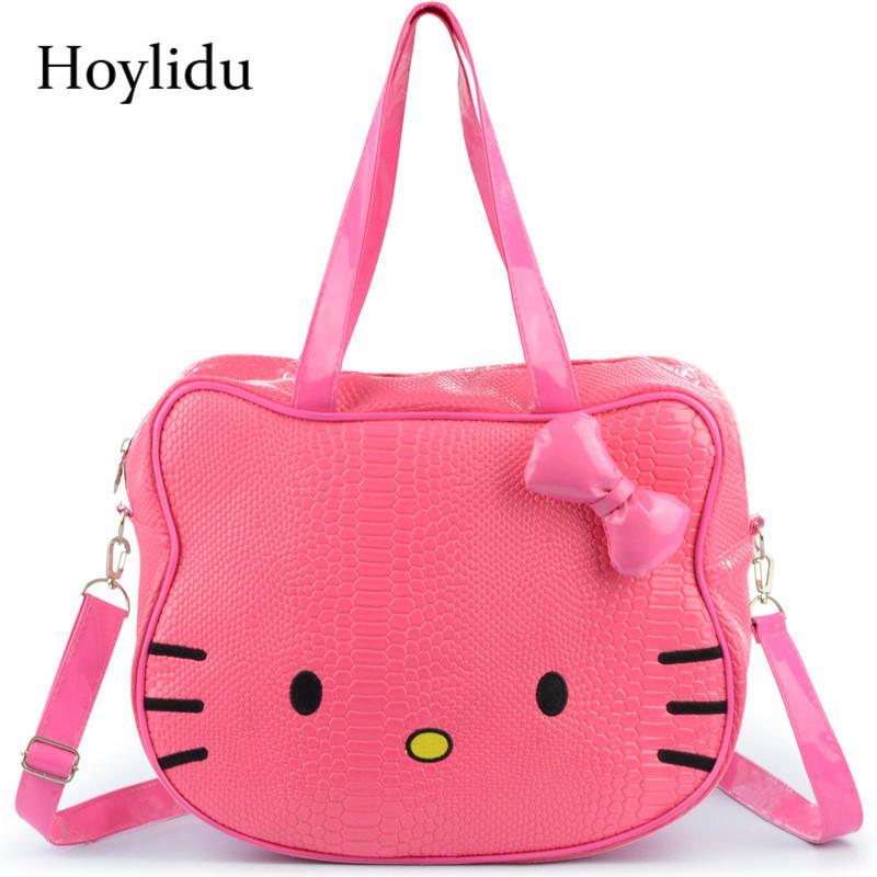 50c1621021 Women Cartoon Cute Hello Kitty Handbag Girls Crossbody Bags Waterproof PU  Leather Children Shoulder BagTravel Tote Kid Hand Bag Cute Handbags  Backpacks From ...