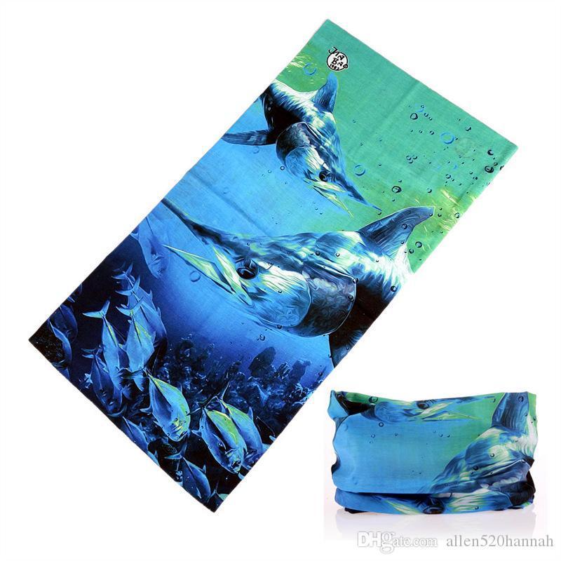 Toptan Moda Fonksiyonlu Tutkunları Bandana Dikişsiz Boru Yüz% 100 Polyester Boyun Isıtıcı Balıkçılık Bandana Alabalık Kafa Atkılar Maske