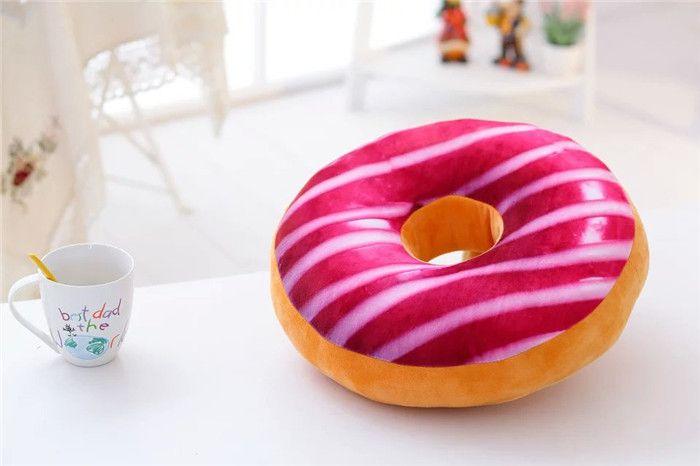 Sweet Donut Foods Kissen Kissenbezug Cute Soft Plush Kissen Gefüllte Sitzkissen Kissenbezüge Fall Spielzeug Kissenbezug
