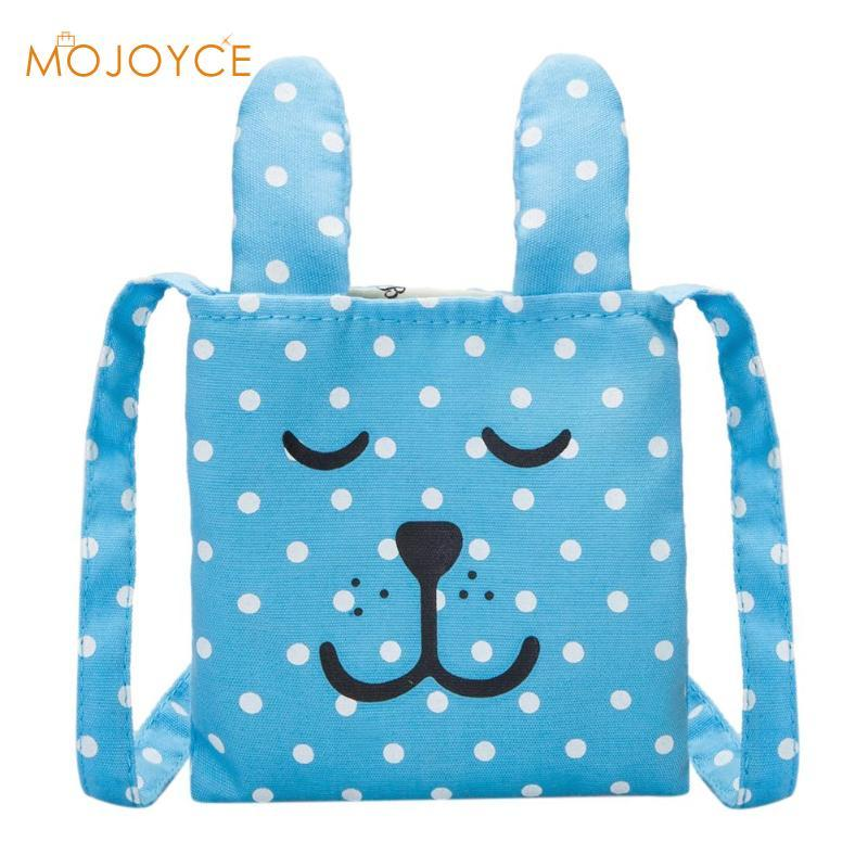 ae3df67bcdaa Cartoon Rabbit Ears Mini Dots Messenger Bags Girls Kids School Bags For  Teenage Blue Pink PU Canvas Shoulder Bag 2018 Cheap Designer Handbags Women  Handbags ...