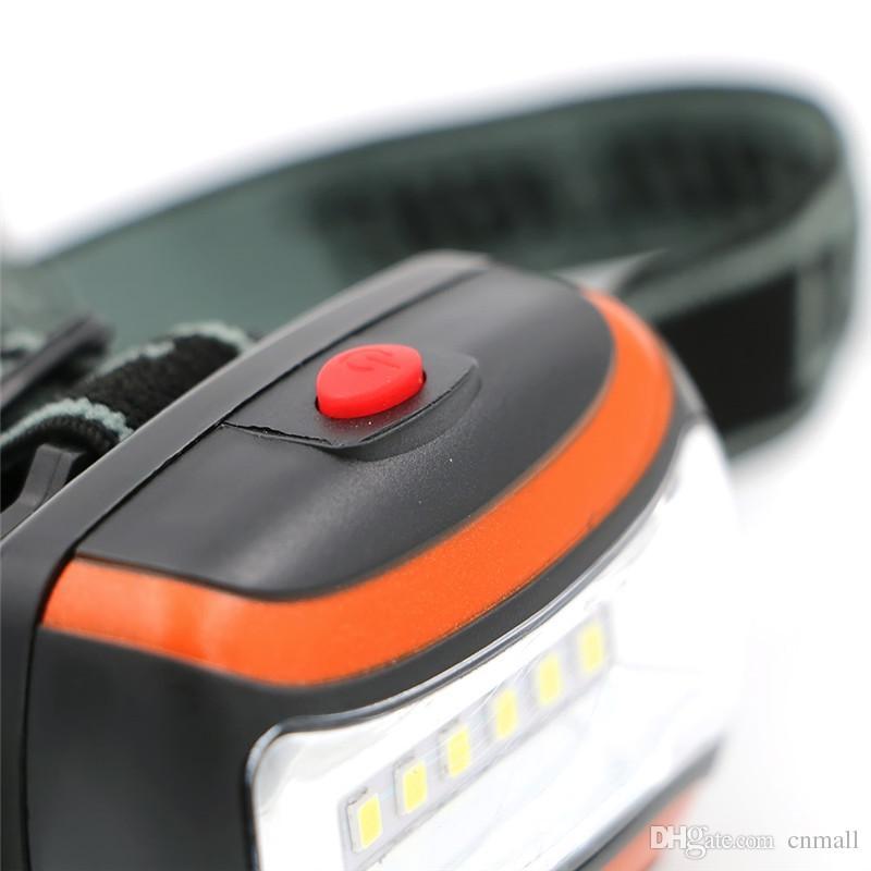 6 LEDs Farol Mini Lanterna À Prova de Chuva À Prova de Chuva Acampamento Ao Ar Livre Cabeça Lâmpada de Luz Lanterna Poder por AAA Bateria