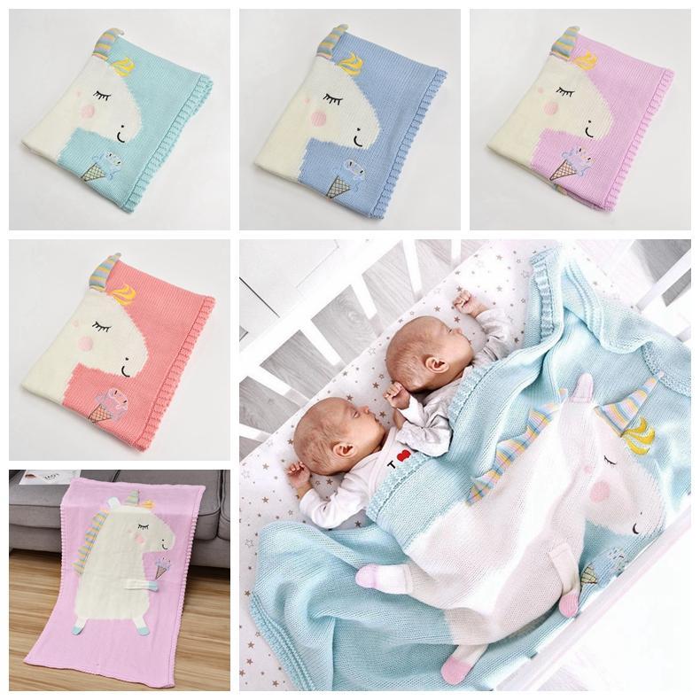 Newborn Baby Blanket Bed Crib Toddler Unicorn Pattern Knit Blankets Infant  Soft Baby Fleece Pram Crib Blanket Size 120 60cm MMA629 Blankets Babies Baby  Gear ... 5f37fba38