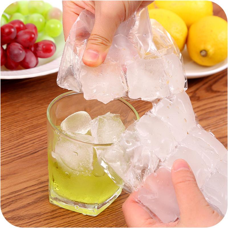 100 Pcs Disposable Ice Making Bags Ice Cube Tray Mold Makes Shot Glasses Ice Mould Novelty Gifts Maker Bar Drinking