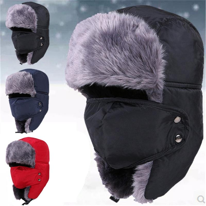 27efe158026 2019 Mountain Climbing New Winter Fur Hats Windproof Thick Warm Winter Snow  Women Cap Face Mask Keep Warm Hat From Suipao
