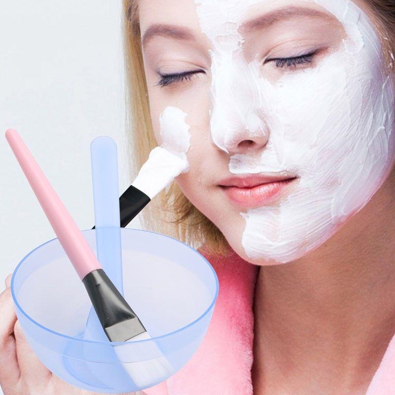 3 in 1 Mask Bowl +Brush + Stirring rod Makeup Beauty DIY Facial Face Mask Bowl Brush Spoon Stick Tool Kit Homemade