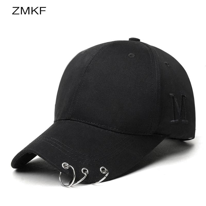 c684fc9d7e6 2018Iron Ring Cap Women Baseball Cap With Rings Gold Color Snapback Hip Hop  Hats For Women Men Dad Hat Kpop Drop Shipping Gorras Flat Cap Trucker Hats  From ...