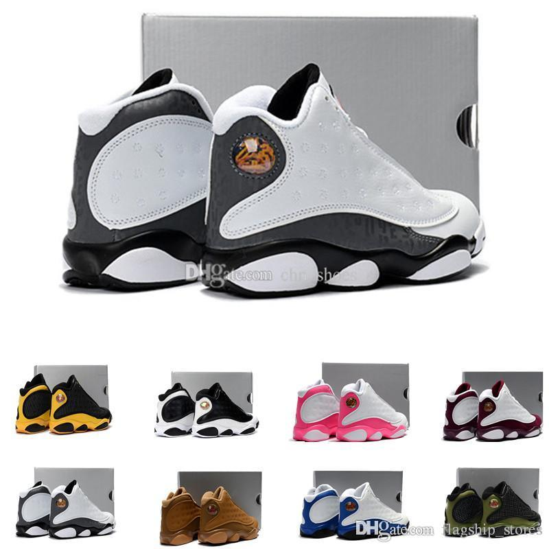 0136c56a1b3f 13 Youth Basketball Shoes Love Respect Black White Dmp Playoffs Kid ...