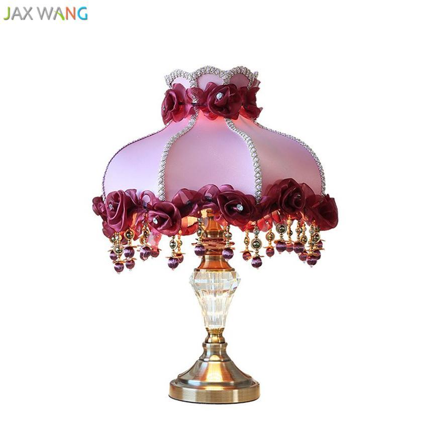 2018 european creative crystal bronze table lamp fabric lampshade 2018 european creative crystal bronze table lamp fabric lampshade lights for living room bedroom bedside lighting wedding gift decor from samanthe aloadofball Choice Image