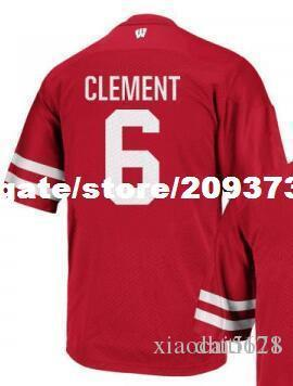 ff3c99fb1 2019 Cheap Men  6 RED White Corey Clement Wisconsin Badgers Alumni Jersey  Stitched Football Jerseys From Xiaocai5678
