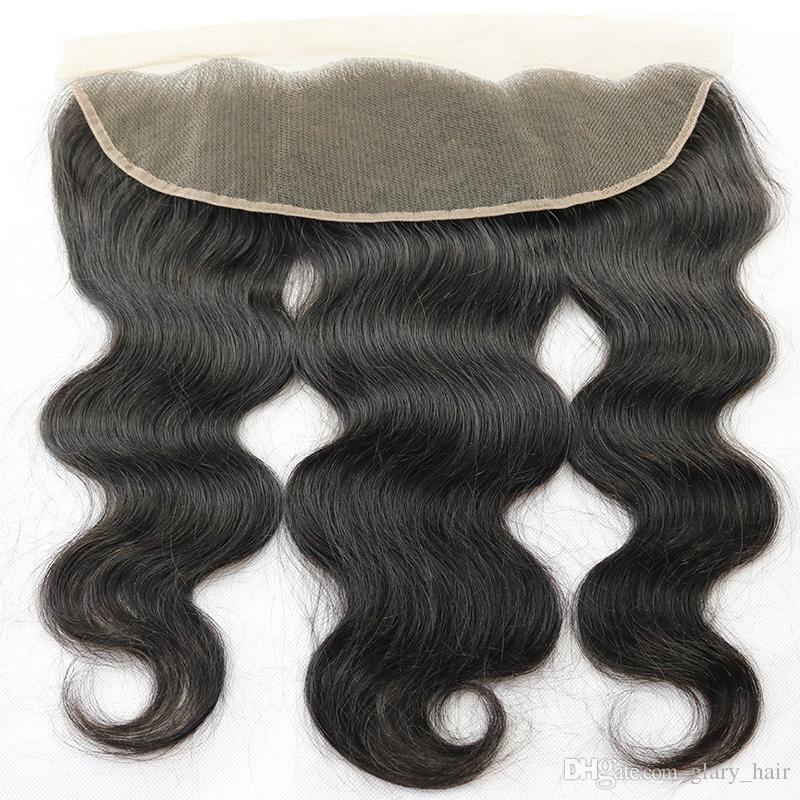 العذراء البرازيلي شعر الجسم موجة نسج شعرة الإنسان مباشرة مع إغلاق الأذن غير المجهزة إلى الأذن 13x4 إغلاق أمامي و 4x4 إغلاق الرباط