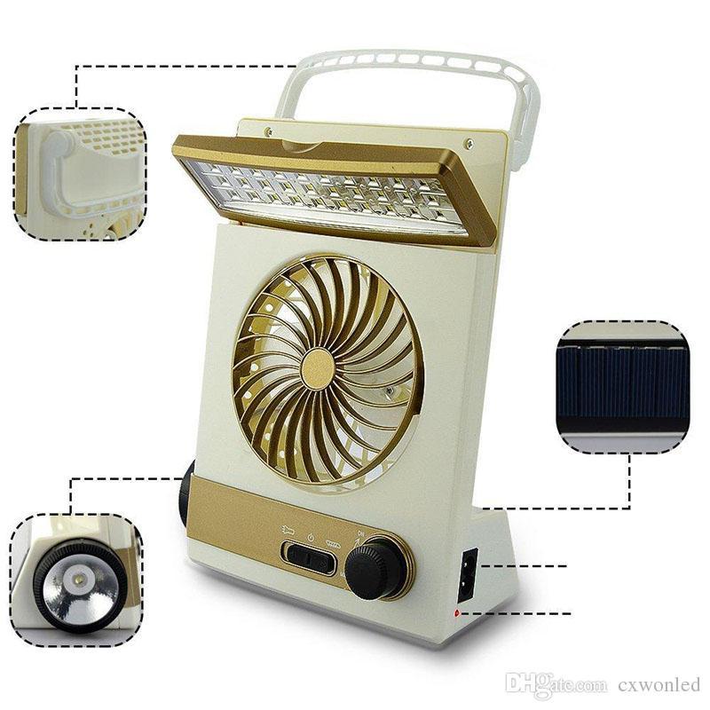 Taşınabilir Solar Fan LED Masa Ana Kamp Güneş Soğutma Hayranları için 1 Çoklu fonksiyonu Göz Bakımı Fener Işık Lamba 3
