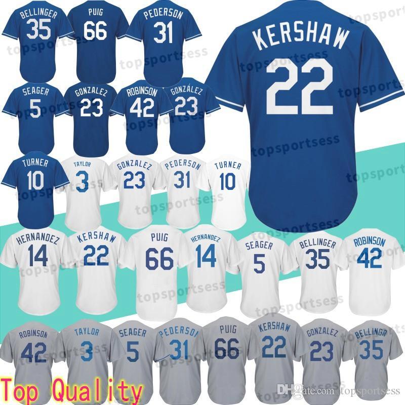Los Angeles Dodgers 22 Clayton Kershaw Jersey 10 Justin Turner 3 ... 7e5291d2bd3