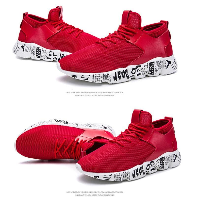 7fe256842c Compre Zapatos De Moda Mujeres Hombres Zapatos Corrientes Negro Y Rojo Zapatillas  De Deporte De Alta Calidad Zapatillas De Deporte Zapatos De Banda Elástica  ...