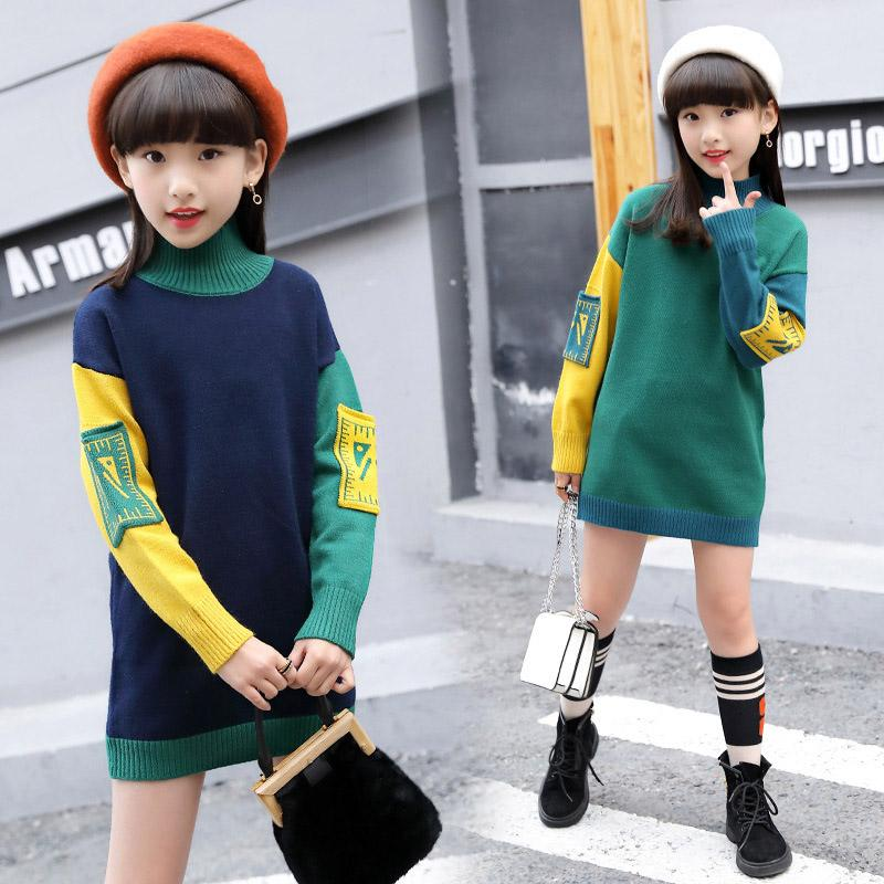 ae26c5dde917 6 14Y Girls Sweater Autumn Winter Children Clothes Kids Girl Knitted  Pullover Turtleneck Sweaters Children Clothing Knitted Sweater Patterns For  Toddlers ...