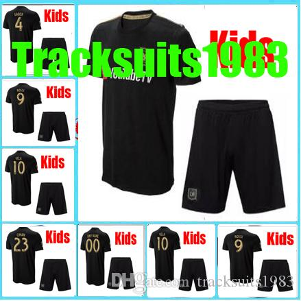 c83bbbf5a 2019 Rugby Boys 2018 2019 Kids Jersey LAFC Carlos 10 Vela GABER 9 ROSSI  CIMAN ZIMMERMAN 18 19 Home Jerseys Child Teen AAA From Tracksuits1983