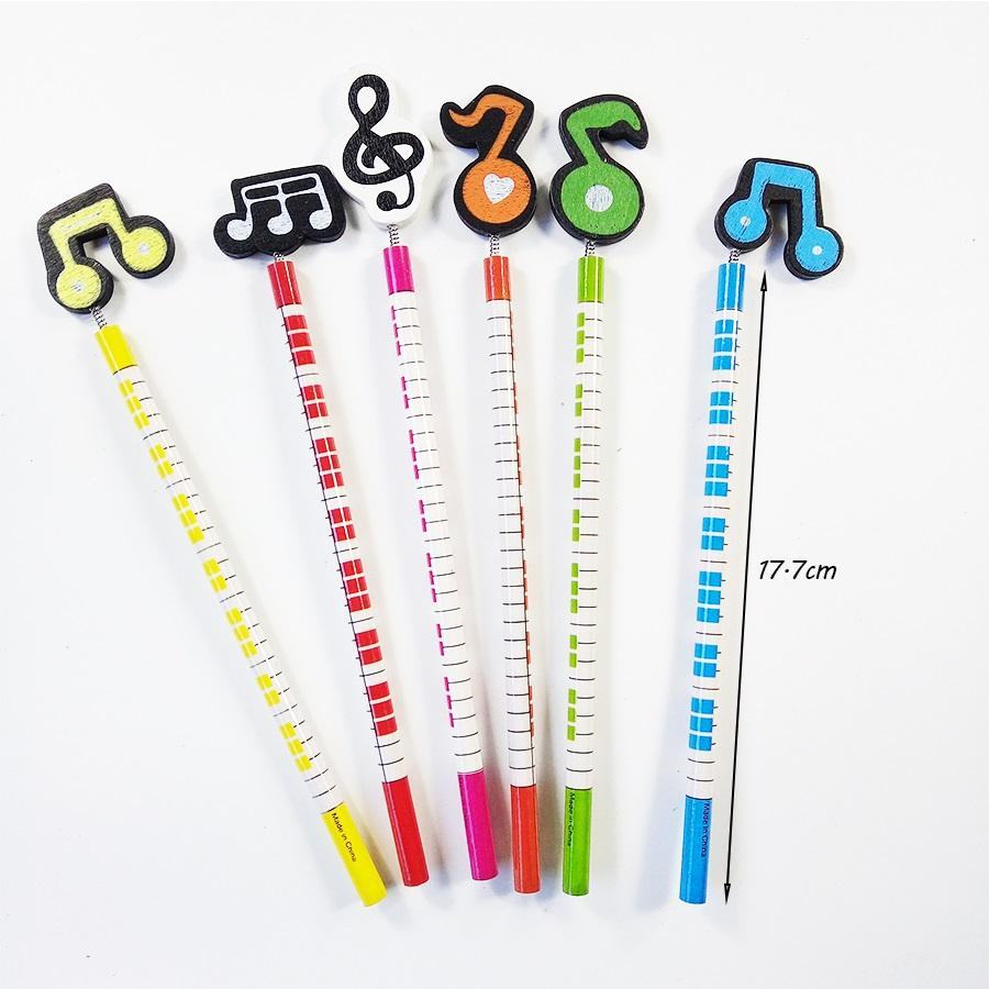 Fancy Stationery Wooden Music Note Pencil For Shops Party Favor Kids' Gift Office School Writing Supplies Wholesale