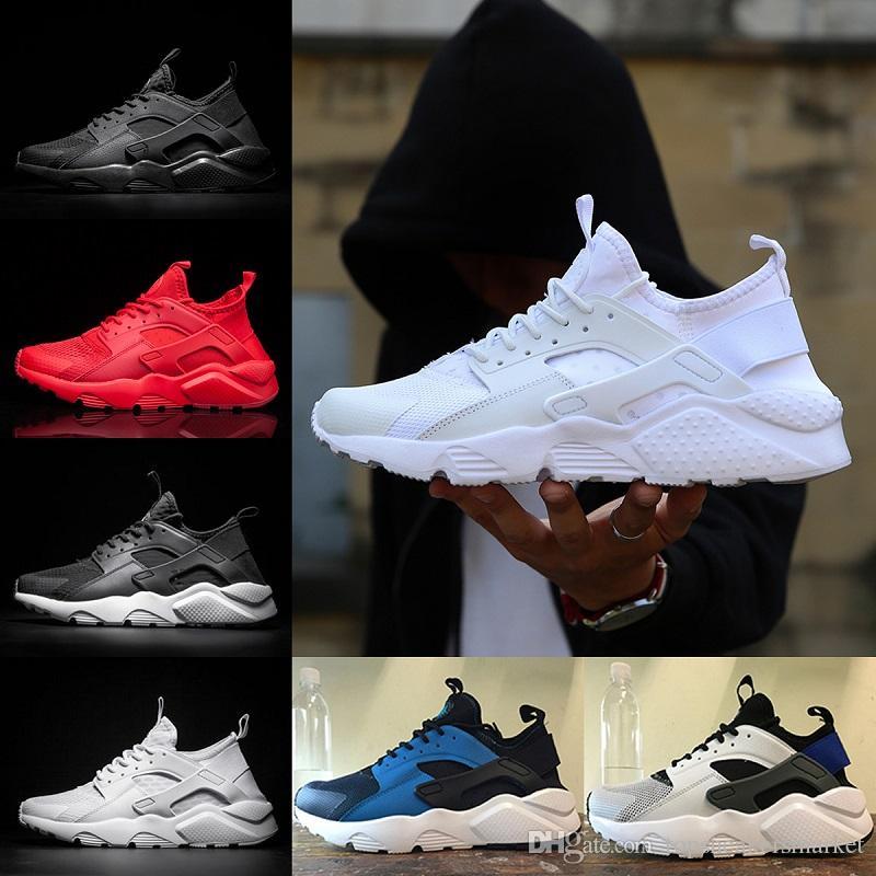 a98e9a63eb5a56 2018 Huarache 4 1 Running Shoes For Mens Womens Runs Triple White ...