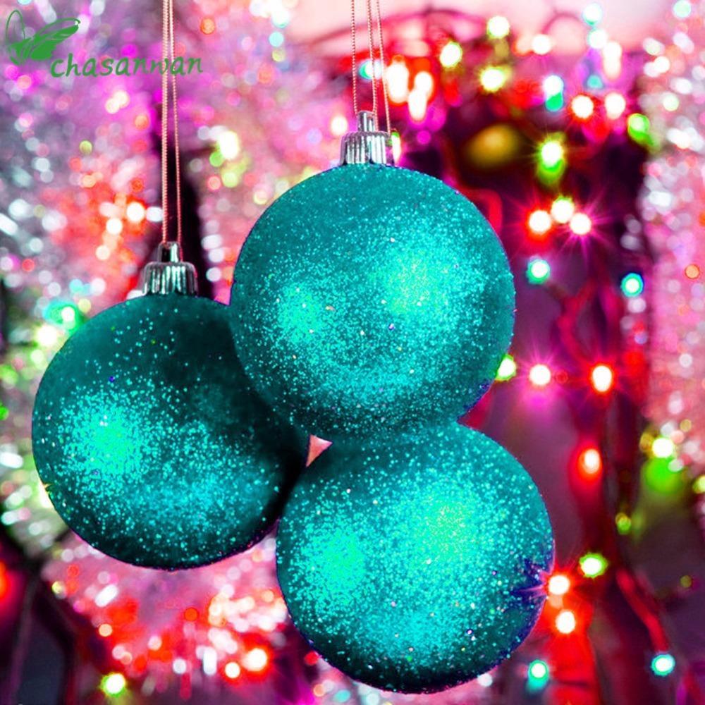 7f836f68e20 Compre CHASANWAN 24 Unids   Set 3 Cm Árbol De Navidad Bolas Adorno  Decoración Natal Navidad Decoraciones Para El Hogar Navidad Año Nuevo  Decoraciones De ...