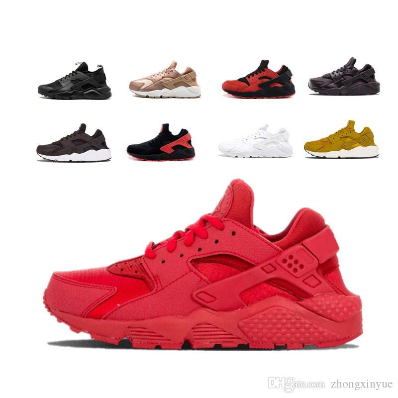 cb8f6eba0753 2018 Fashion Air Huarache Ultra Running Shoes For Men And Women Air  Huaraches Red Black White Sneakers Designer Huraches Brand With Box Mens  Sale Cheap ...