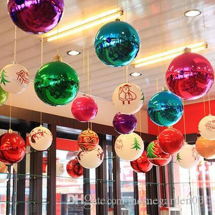 Colorful Christmas Balls.Wholesale Christmas Tree Colorful Christmas Balls Decorations Baubles Party Supplies Decorations For Wedding Christmas 24pcs Lot 8cm