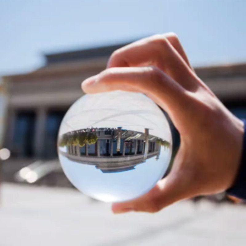 Kristallglas Objektiv Ball Fotografie zum Verkauf 8 cm Feng Shui Fashiongift Wohnkultur Kugel Magic Healing Globe Balls