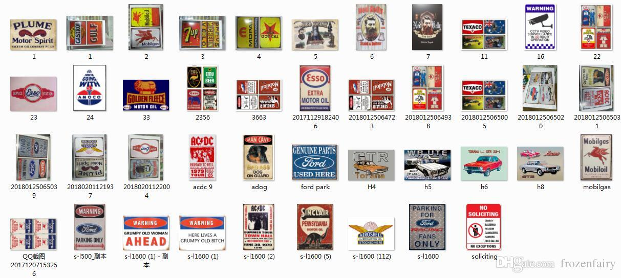 all best almost all the tin design on DHgate Vintage Tin Signs Retro Metal Sign Painting Decor The Wall Mixed designs