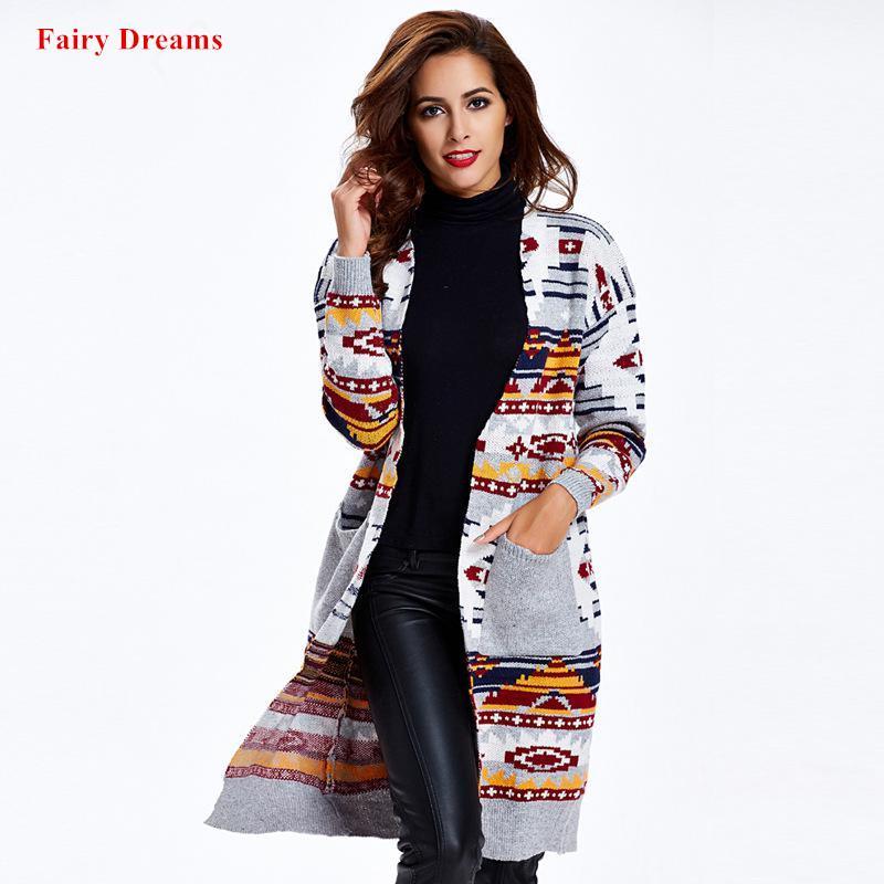 best service b27f1 e03c7 Pullover Frauen Mantel Strickjacke Grau Blau Lange Jacke Winter  Strickbekleidung Oberbekleidung Damenmode Kleidung Fairy Dreams