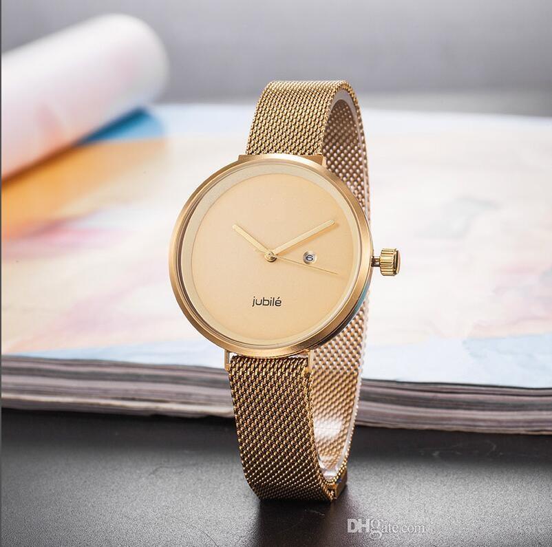 3bd702bf0479 Luxury Brand Watches Women Fashion Wristwatch Steel Mesh Female Relogio Montre  Femme Lovers Clock Super Gift Women Luxury Watch Men Women Fashion  Wristwatch ...
