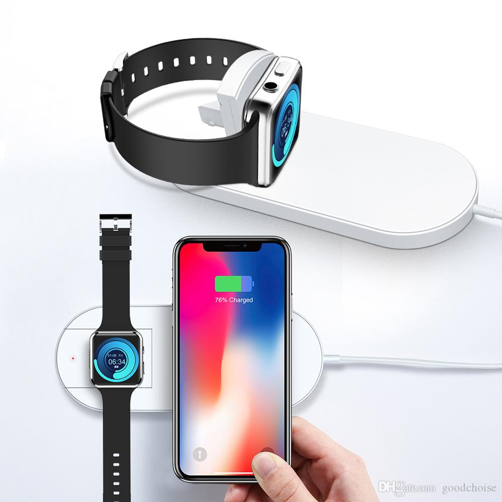 reputable site 5ff52 5dbab Fast Wireless Charger For iPhone X XR XS Max For Apple Watch 2 3 10W Qi  Wireless Charge For Samsung S9 S10 Plus