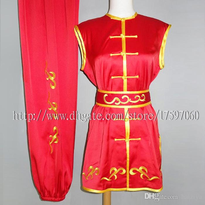Chinese Wushu uniform Shaolin Kungfu clothes Martial arts suit Nanquan outfit Routine kimono Embroidered for men women boy girl kids adults