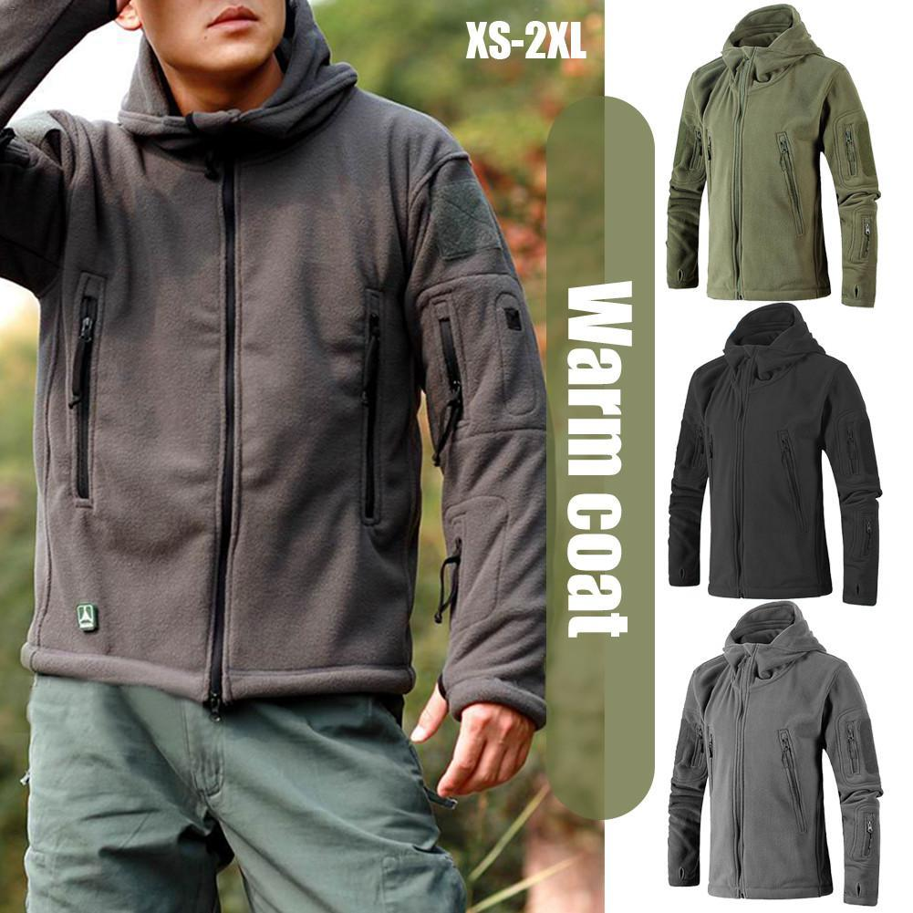 b944824aef 2019 Men Jacket Coat Military Tactical Fleece Jacket Uniform Soft Shell  Casual Hooded Jacket Men Thermal Army Clothing From Sportblue