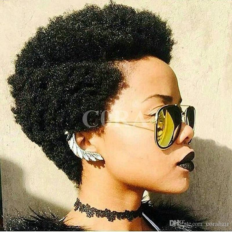 New Tight Afro Kinky Curly Celebrity Short Bob Cut Wigs With Baby
