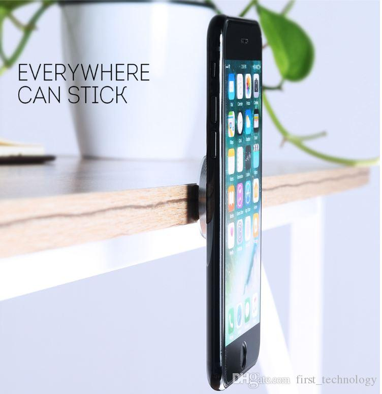 Multifunction Magnetic Mobile Phone Car Holder Stand Mobile Phone Holder Paste for iPhone 7 Plus Car Phone Stand Stick Anywhere